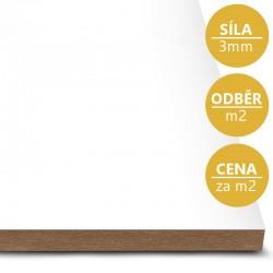 MDF deska tl. 3 mm bílá