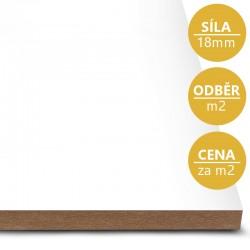 MDF deska tl. 18 mm bílá