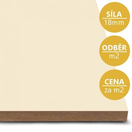 MDF deska tl. 18 mm vanilka