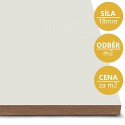 MDF deska tl. 18 mm bílošedá