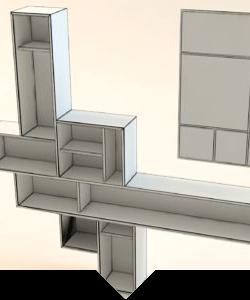 3D návrhy nábytku
